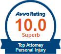 AVVO Rating - Top Personal Injury Attorney